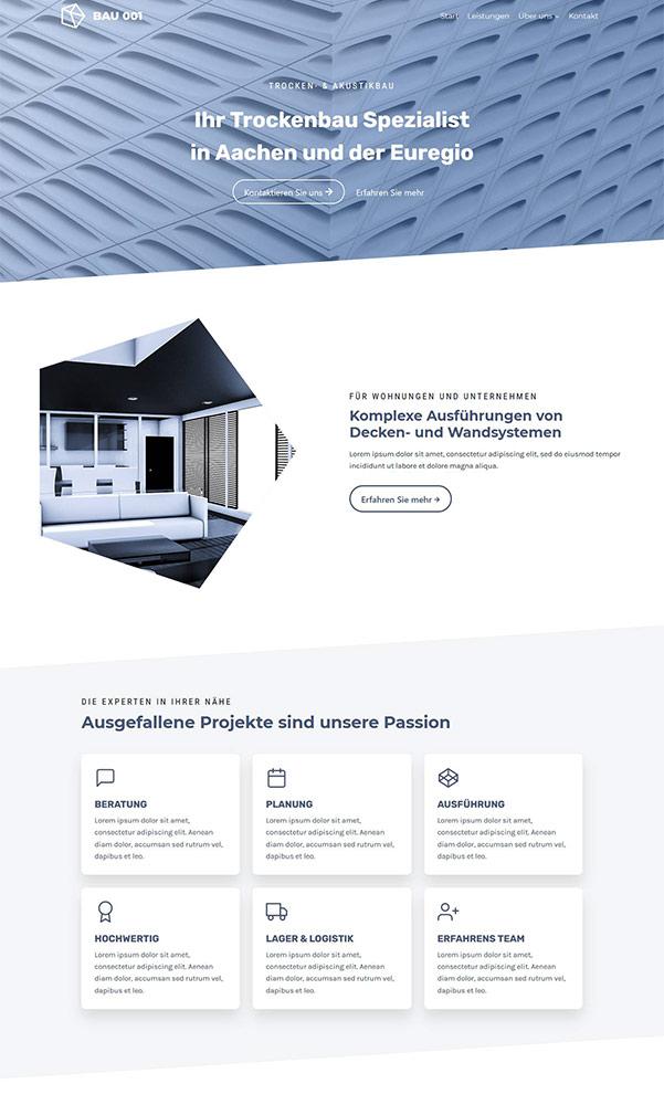 BAU 001 Website für Leistungen