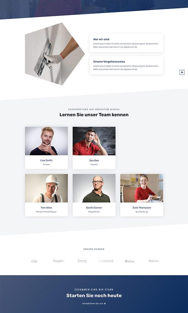 Firmastart Bauunternehmung Website