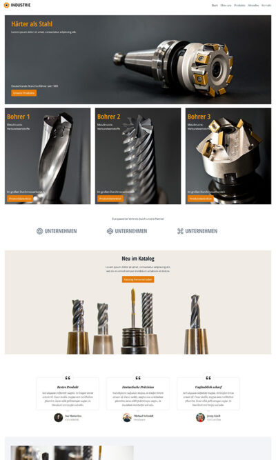 Firmastart Industrie Website