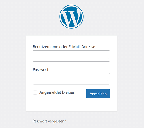 Firmastart Anmeldung als WordPress Administrator