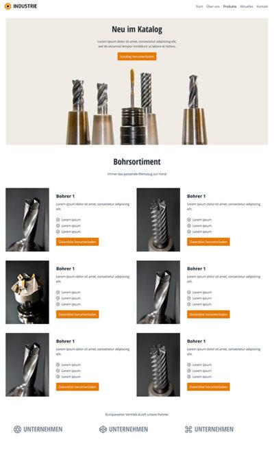 Firmastart Industrie Website Katalog