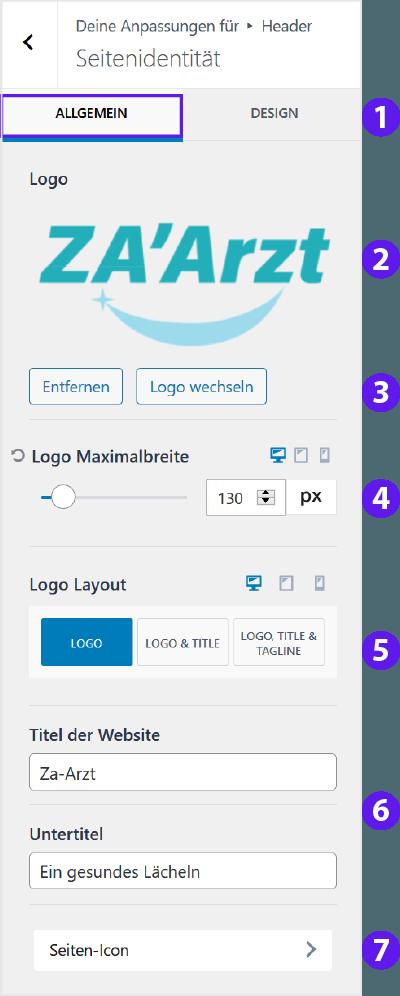 Firmastart - Website Logo tauschen Allgemein