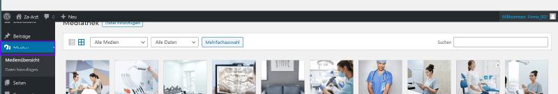 Firmastart - WordPress Medien verwalten