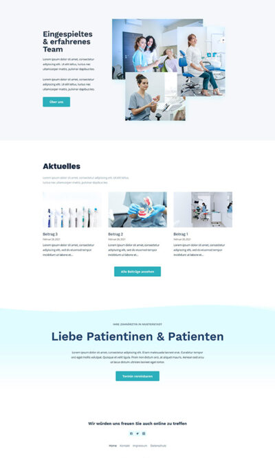 Firmastart Zahnarzt Website Home 3