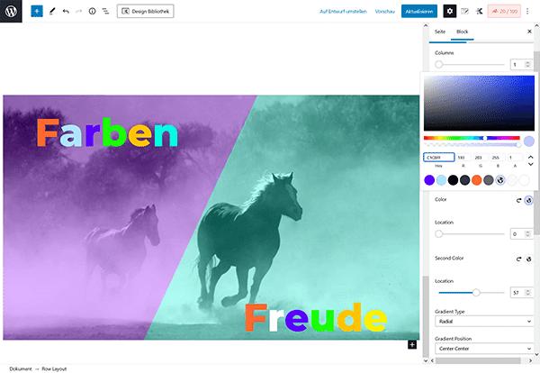 Firmastart Website Farben