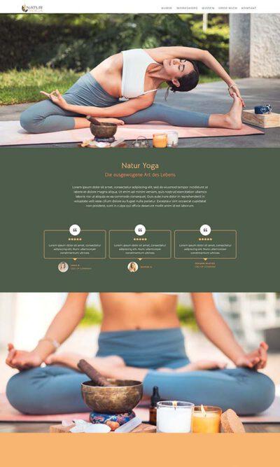 Firmastart Yoga Natur Website